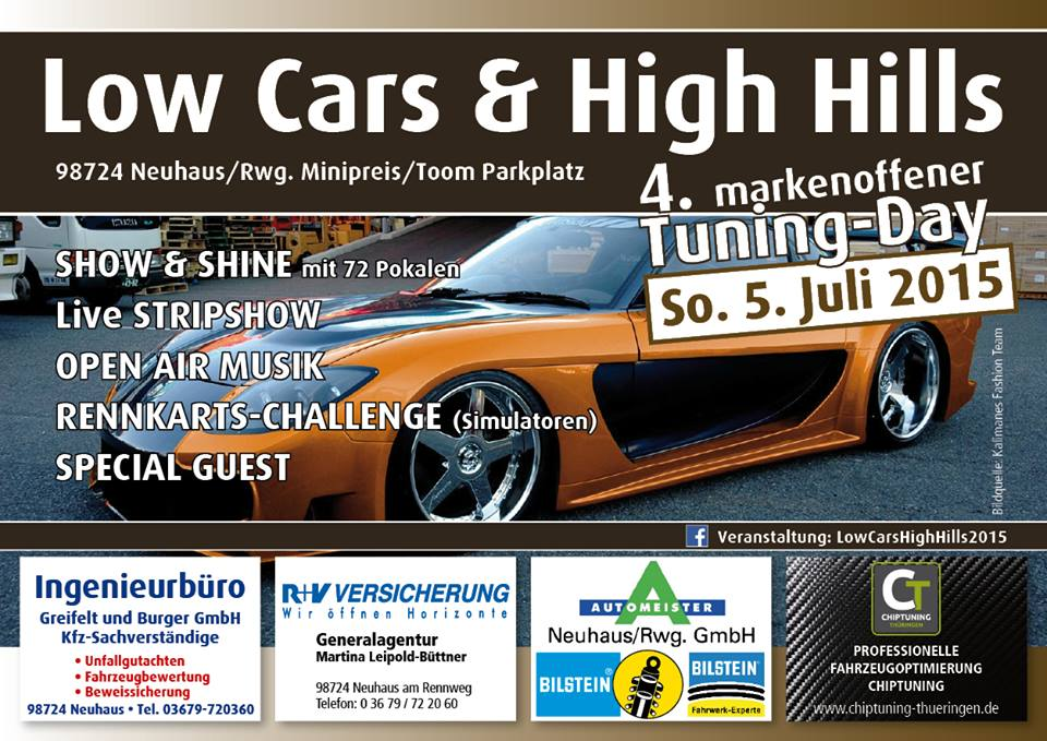 Flyer Tuning-Day Vorderseite